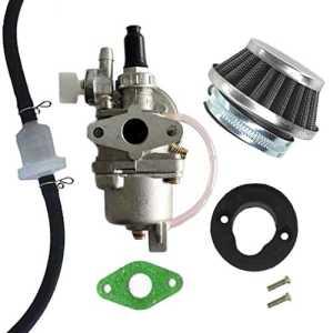 Aisen Carburateur avec filtre à air et tuyau – Pour pocket bikes et dirt bikes de 47cc et 49cc – robinet de carburant 2temps