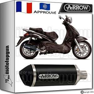 ARROW POT D'ECHAPPEMENT URBAN DARK ACIER NOIR HOM PIAGGIO BEVERLY 500 2005 05 73501ANN