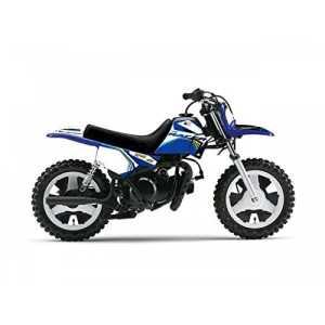 ART Kit plastiques bleu Yamaha 50 PW 90-17 + selle complète noir + kit déco KUTVEK Racer bleu