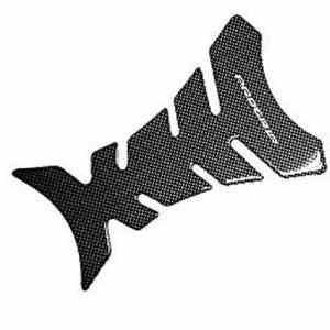 Deanyi Fish Bone Sticker Moto Pièces Protecteur Pâte Noire réservoir en Fibre de Carbone Résine Pad Protector Decal Fishbone Style Moto Stickers Corps Produits Maison/Cuisine