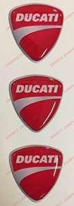 Emblème Logo Decal Ducati, tris autocollants, Résine Effet 3d. Pour réservoir ou casque
