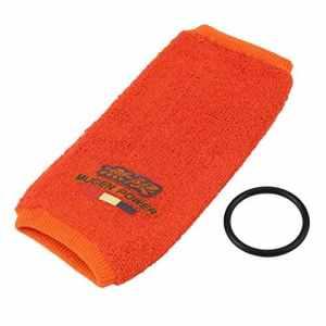 Funnyrunstore 1 Set Universel Couvre-Réservoir Réservoir Mugen Résistant Au Feu Empêchant la Perte de Fluide pour Honda Acura Civic JDM ANG (orange)