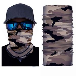 laamei Unisexe Extérieur Bandanas Face Masque Bandeau Foulard Sports de Plein air Visage Masque Cache-Cou Écharpe