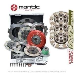 Mantic Track Premium kit d'embrayage Convient GM–Mantic Aluminium billet Cover Assembly | Triple Cerametallic d'embrayage, sans coussin, non à ressorts–Track utiliser uniquement | concentrique esclave Cylindre | billet usiné solide de masse volant d'inertie (SMF) avec boulons kit | Embrayage alignement Outil (M933222)