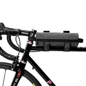 Multifonctions Sacoche de Selle Vélo Portable Compact Sac de Tube Sac de Rangement Bicyclette Élargissez la Conception à Crochet et à Boucle Plein Air Camping Équitation Sacoche de Cadre Vélo