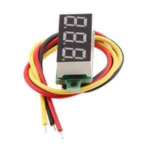 perfk Mini LED Numérique 0.28 inch Voltmètre Outil de Testeur De Tension Meter – Yelllow