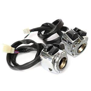 VISTARIC Interrupteurs de commande de guidon de 1 pouce avec câblage pour moto Harley
