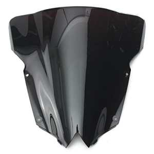 Alamor Pare-Vent Windscreedn Double Bulle pour Yamaha YZF R6 600 2008-2015-Noir