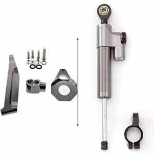 amortisseur et stabilisateur de direction Tampon Barre de contrôle avec support de montage pour Honda CBR600RR 2005 2006 Aluminium Gray&Black