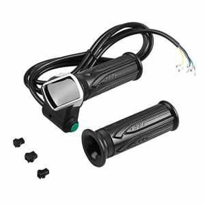 Dilwe Throttle Grip Imperméable Écran LCD Poignée de Poignée Accélérateur Twist Grips et Bent Cable Set pour Les Voitures électriques Bike(36V)