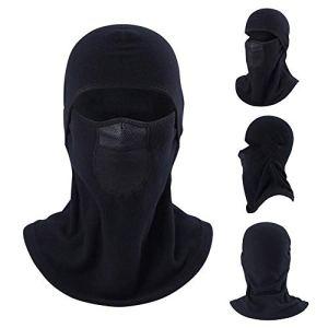 Écharpe chaude de cou de tissu de Polarfleece unisexe, bonnet pour le travail extérieur de sports de vélo faisant du ski faisant de la moto coupe-vent froid preuve de masque chaud de visage masque