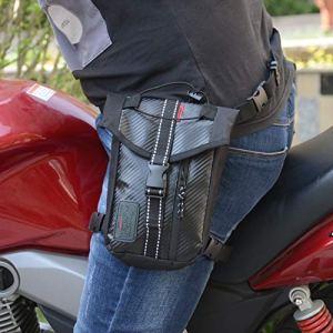 ETbotu Moto étanche Oxford Cuisse Pendantes Tour de Taille Sac de Jambe mâle pour Moto Fanny Lot–Noir