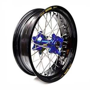 Haan Wheels-61551 : roue complète Haan Wheels Bague Noir 17-5,00 moyeu 36509 Blue 1/3/5