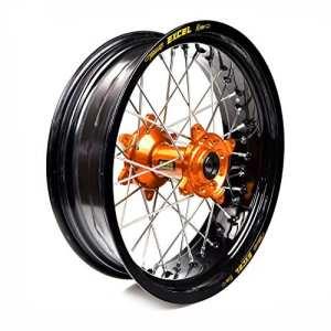 HAAN WHEELS-roue complète jante Noir 17-5,00 moyeu Orange 36509/3/10
