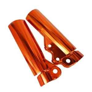 KESOTO 2pcs Support Protection de Fourche Avant Accessoire Remplacement Moto – Orange