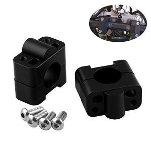 Poignées de guidon en barre de graisse Adaptateurs de fixation de collier de fixation 7/8-1 1/8 Universal Solid Mounts Fit pour moto MX Enduro CRF YZF KXF