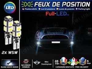 Ampoules Feux de position LED – Mini Countryman- W5W blanc Xénon