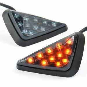 Clignotant Triangle 11 LED Ambre Tour Signal lumineux pour moto Honda Kawasaki Yamaha Suzuki