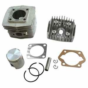 Générique Culasse Moteur Cylindre 40mm Piston avec Joint Segments 10mm Broche Bague Pour Vélo Motorisé Mini Moto 50cc 49cc