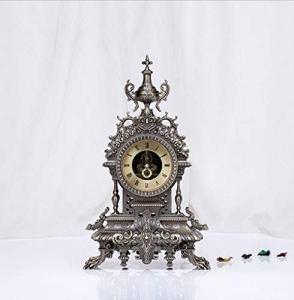 LIJIANGUO Art De La Personnalité Salle De Séjour Mode De Luxe Zhong Rong Rong Hua (A) Horloge Métal Relief en Trois Dimensions