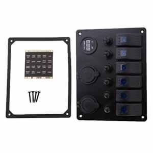 Sharplace 6 Disjoncteurs à Panneaux 12v 24v Interrupteur Automobile Bateau à Moteur