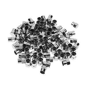 starnearby 100Pcs Plaqué Chrome Plastique de Roue Pneu Valve Bouchons pour Valves Schrader