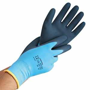 Thermo Gants, Wet Protect Winter, gant de protection contre le froid Latex, wärmendes Acrylique-Teddy, Coque originale et doublure