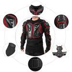 Veste Armure Moto Blouson Motard Gilet Protection Équipement de Moto Cross Scooter VTT Enduro Homme ou Femme Rouge M