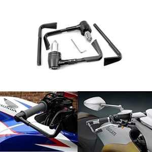 ViZe 7/8» 22mm Protection de Frein et de Levier Bout de Guidon CNC Pour Honda KTM Kawasaki Suzuki Street Bikes Sport Bikes Motif Noir