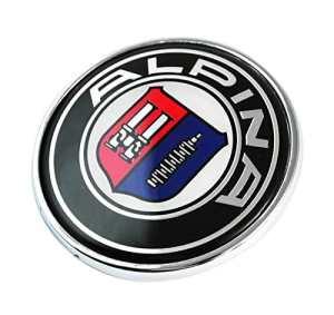 B M w Alpina 74mm badge Emblème Chrome pour BMW Capuche/Trunk, Coffre de remplacement Bonnet badge Emblème