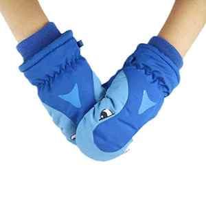conqueror Hiver automne gants chauds gants en tricot à doigts Le ski d'enfants épaississant de requin jouant la neige imperméable beaux gants chauds extérieurs