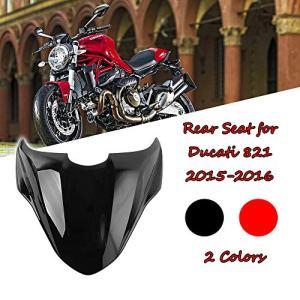 FATExpress Moto Après-Vente En Plastique Arrière Passager Pillion Solo Siège Capot Dur ABS Couvercle De Capot Couverture pour 2014-2018 Ducati Monster 821 2015 2016 2017 14-18