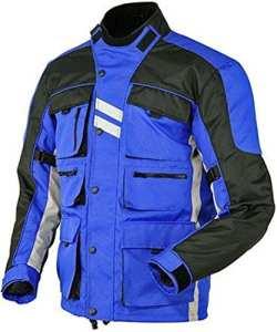 Hommes Moto Jacke Veste Blouson en Cordura Impermeable Motorcycle Jacket