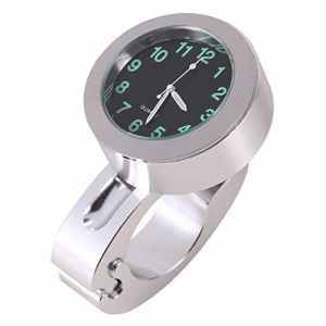 Horloge Numérique de Montage de Guidon de Moto Montre de Guidon Étanche Universel en Aluminium 7/8″ Argent