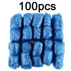 Lovelysunshiny 100Pcs / Set en Plastique jetable Couvre Les pièces à l'extérieur de la Pluie imperméable à l'eau