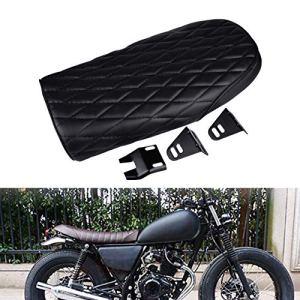 Natgic 1pcs Motorbiker Coussin d'assise Selle Coussin Vintage Racer Noir–Ensemble