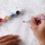 Numéros de peinture bricolage peinture à l'huile coloré lion toile impression mur art décoration de la maison