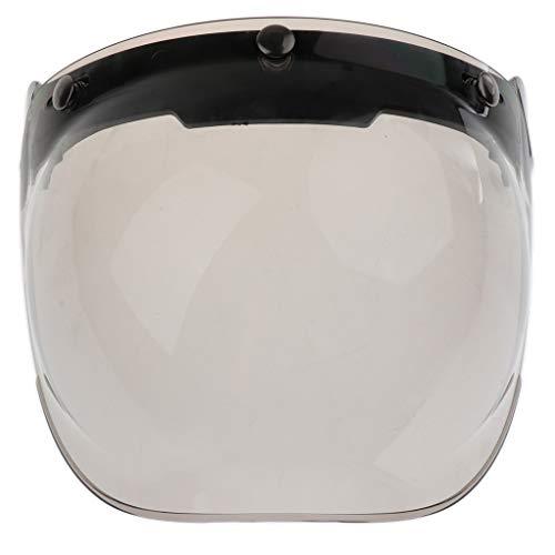 Visi/ère pour Casque Jet Demi Jet 3//4 Moto A:color/é Visage Ouvert Fermeture /à 3 Boutons-Pression Style R/étro Harley par sweetlife 1pc