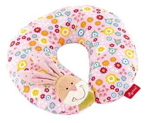 sigikid, Fille, Coussin Repose Cou Lapin, Bungee Bunny, Rose/Multicolore, 40835