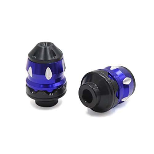 sourcingmap 2pcs Bleu roue avant en alliage aluminium résistance chute coupe fourche pour Moto