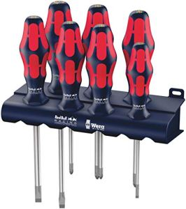Wera Red Bull Racing Jeu de tournevis Kraftform Plus Lasertip + Rack, 7 pièces, 05227700001