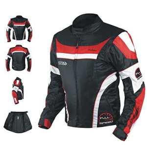 A-pro Blouson Oxford Nylon Homme Textile CE Protections Thermique Moto rouge L