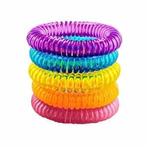 Bellelove Bracelets répulsifs naturels 5 bracelets anti-moustiques de PCS Bracelets imperméables normaux hydrofuges efficaces