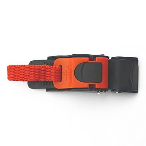 Boucle de tirage – Casque de moto en plastique clip de vitesse sangle de menton Liberation rapide boucle de tirage nouveau noir et rouge