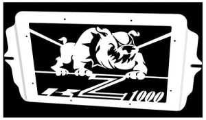 cache radiateur / grille de radiateur Kawasaki Z1000 03>06 design «Bulldog»