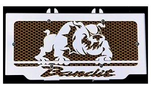 cache radiateur / grille de radiateur Suzuki GSF 600 Bandit 95>04 et 650 Bandit 05>06 design «Bulldog» + grillage or