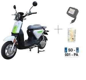EUROCKA Scooter CKA Express Blanc électrique Batterie Lithium Amovible 10ans Garantie (2 Place)
