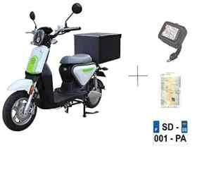 EUROCKA Scooter CKA Express Blanc électrique Batterie Lithium Amovible 5ans Garantie (Top Case Arriere)