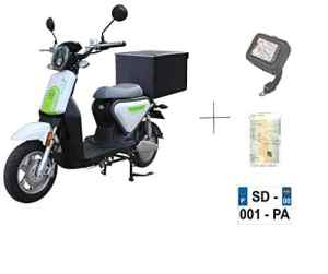 EUROCKA Scooter CKA Express Rouge électrique Batterie Lithium Amovible 2 Ans Garantie (Top Casse Arriere)