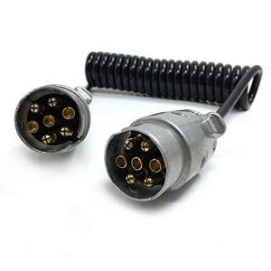 Extension de câble SmartSpec pour remorque – Prise à 7 broches – Câble spiralé de 1,5 m